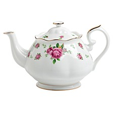 New Country Roses White Teapot