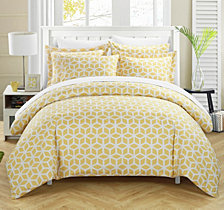 Chic Home Elizabeth 3 Pc Queen Duvet Cover Set