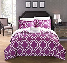 Juniper 4 Pc King Duvet Cover Set