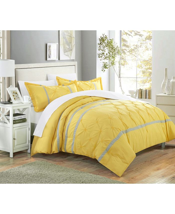 Chic Home - Veronica 3-Pc. King Duvet Cover Set