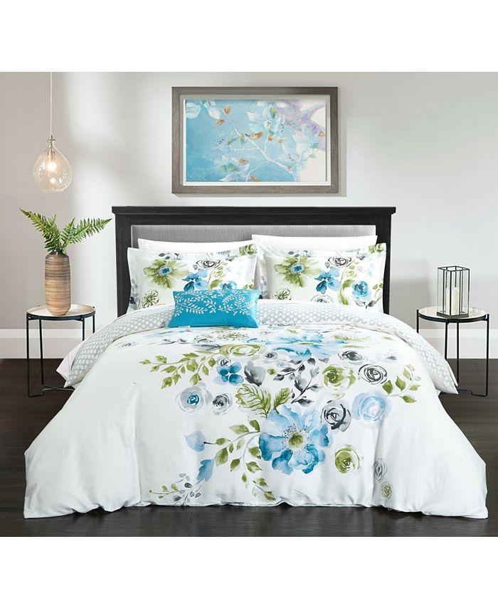 Chic Home - Enchanted Garden 4-Pc. Duvet Cover Sets