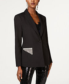 I.N.C. Rhinestone-Trim Blazer, Created for Macy's