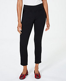 Charter Club Pull-On Ankle-Length Jeans, Created for Macy's