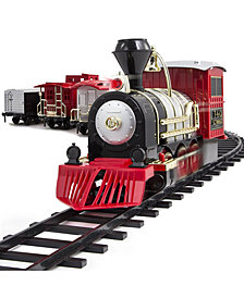 FAO Schwarz Train Set Motorized with Sound, 30 pieces