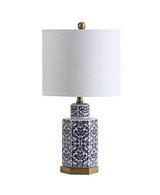 """Diana 23.5"""" Ginger Jar Ceramic,Metal LED Table Lamp"""