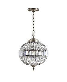 "Georgina 12"" Crystal,Metal LED Chandelier Pendant"