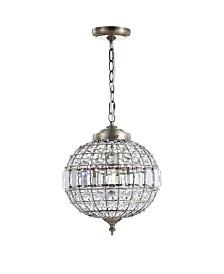 "JONATHAN Y Georgina 12"" Crystal,Metal LED Chandelier Pendant"