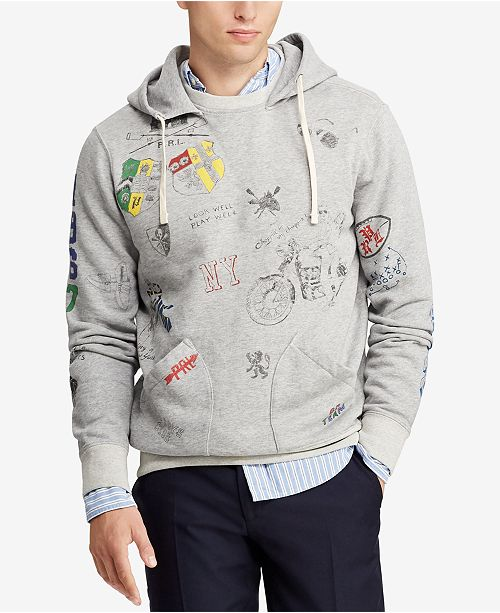052808fe4b Polo Ralph Lauren Men s Graphic Fleece Hoodie   Reviews ...