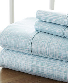 Home Collection Premium Ultra Soft Polka Dot Pattern 4 Piece Bed Sheet Set, Cal King
