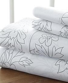 Home Collection Premium Ultra Soft Vine Pattern 4 Piece Bed Sheet Set