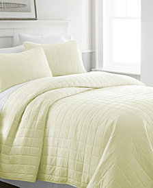Home Collection Premium Ultra Soft Square Pattern Quilted Coverlet Set, Queen