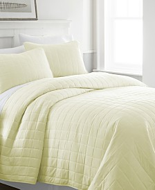 Home Collection Premium Ultra Soft Square Pattern Quilted Coverlet Set, Twin