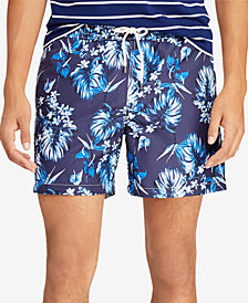 Polo Ralph Lauren Men's Big & Tall Traveler Floral-Print Swim Trunks