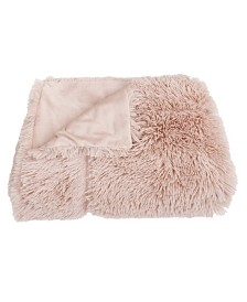 "Chubby Faux Fur Decorative Throw, 50"" X 60"""