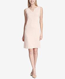 Calvin Klein Chain-Detail Sleeveless Sheath Dress