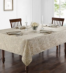 "Waterford Esmerelda 70"" X 104"" Tablecloth"