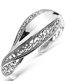 Carolyn Pollack Signature Wave Cuff Bracelet in Sterling Silver