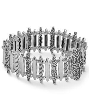 Carolyn Pollack Sterling Silver Bar Link Magnetic Bracelet