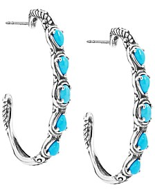 Turquoise Five-Stone Earrings in  Sterling Silver
