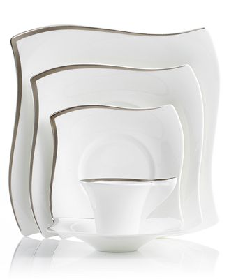 villeroy boch new wave premium platinum dinnerware collection fine china macy 39 s. Black Bedroom Furniture Sets. Home Design Ideas