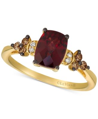 Rhodolite Garnet (1-3/4 ct. t.w.) & Diamond (1/6 ct. t.w.) in 14k Yellow Gold (Also Available in Rose Gold)