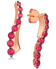 Certified Passion Ruby™ Ear Climbers (1-1/4 ct. t.w.) in 14k Rose Gold