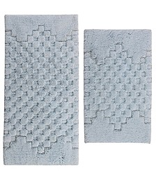 Melange 2 pc set, 17x24 & 21x34 Cotton Bath Rugs