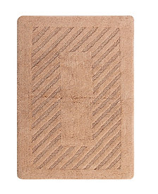 Diagonal Racetrack 22x60 Cotton Bath Rug