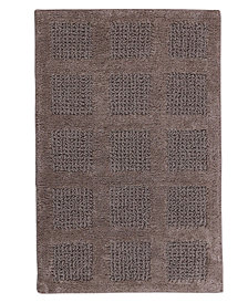 Square Honeycomb 17x24 Cotton Bath Rug
