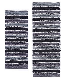 Chunky Chenille 2 Pc Cotton Bath Rug Set