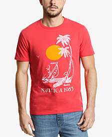Nautica Men's Vintage Palm Beach Graphic T-Shirt