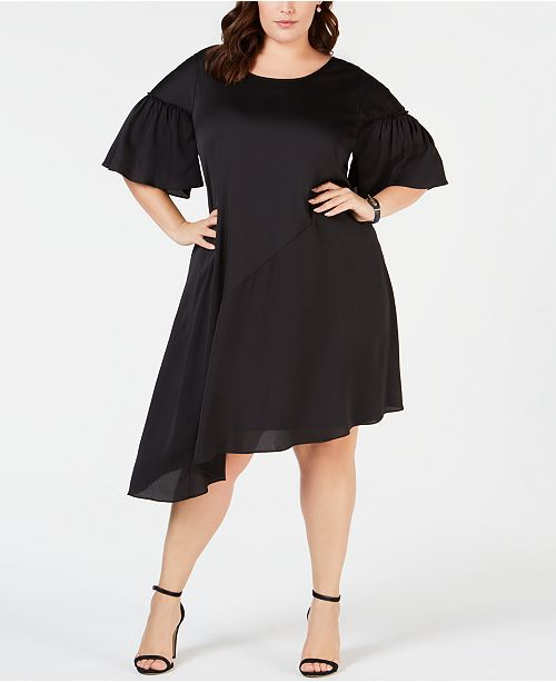 Robbie Bee Plus Size Asymmetrical Shift Dress & Reviews ...