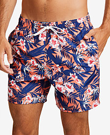 "Nautica Men's Floral-Print 8"" Swim Shorts"