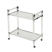 Mirren Modern Glass Bar Trolley