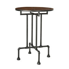 Westleigh Industrial Faux Wood Bar Table, Dark Brown