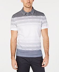 Alfani Men's Regular-Fit Ombré Stripe Polo, Created for Macy's