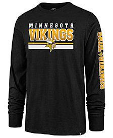 '47 Brand Men's Minnesota Vikings Level Up Long Sleeve Super Rival T-Shirt