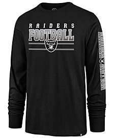 '47 Brand Men's Oakland Raiders Level Up Long Sleeve Super Rival T-Shirt