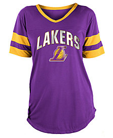 5th & Ocean Women's Los Angeles Lakers Mesh T-Shirt