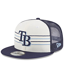 New Era Tampa Bay Rays Vintage Stripe 9FIFTY Snapback Cap