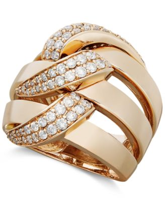 pave classica gold tcw rings jewelry diamond effy ring onfigure criss white cross