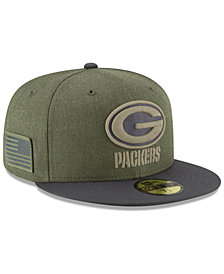 New Era Green Bay Packers Salute To Service 59FIFTY FITTED Cap