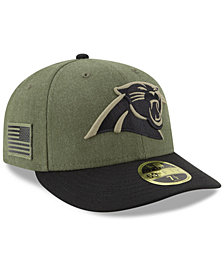 sports shoes 3e52f d8109 New Era Carolina Panthers Salute To Service Low Profile 59FIFTY Fitted Cap  2018