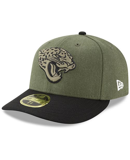 ... New Era Jacksonville Jaguars Salute To Service Low Profile 59FIFTY  Fitted Cap 2018 ... ac33a19d0