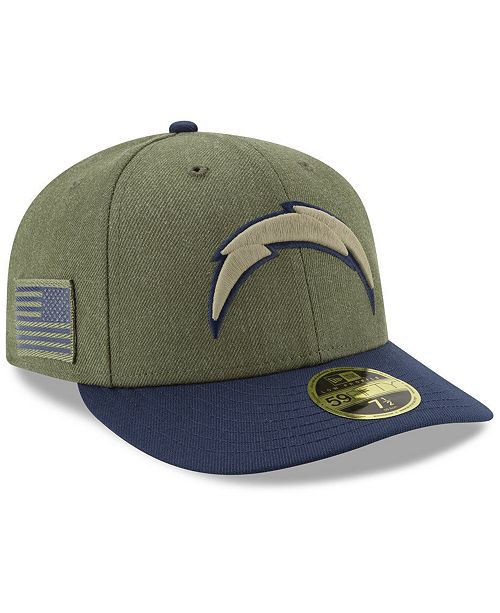 New Era Los Angeles Chargers Salute To Service Low Profile 59FIFTY ... c3b00163d00