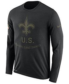 Nike Men's New Orleans Saints Salute To Service Legend Long Sleeve T-Shirt