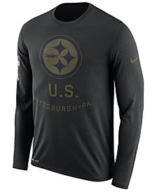 Nike Men's Pittsburgh Steelers Salute To Service Legend Long Sleeve T-Shirt