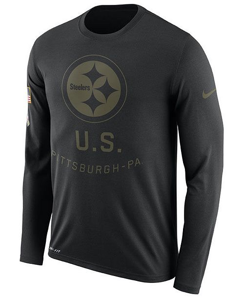 c885178300b ... Nike Men s Pittsburgh Steelers Salute To Service Legend Long Sleeve T- Shirt ...