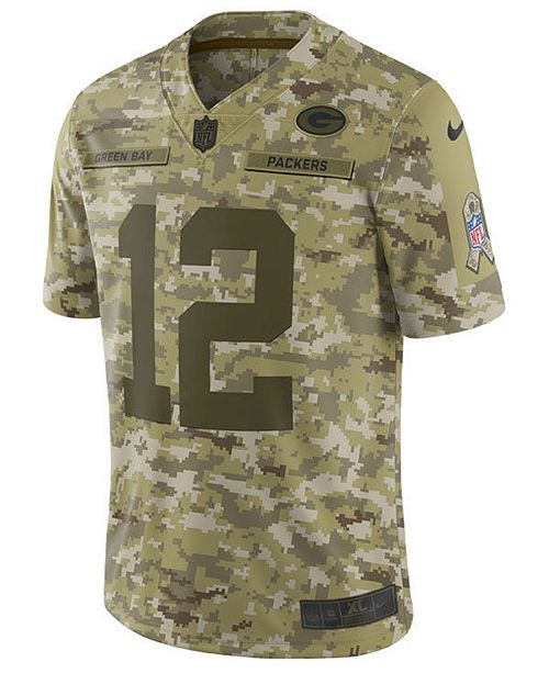Nike Men s Aaron Rodgers Green Bay Packers Salute To Service Jersey ... 80fa7bd9b