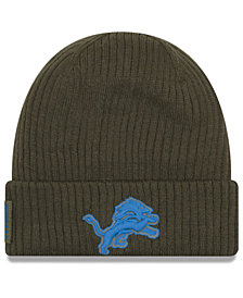 New Era Detroit Lions Salute To Service Cuff Knit Hat